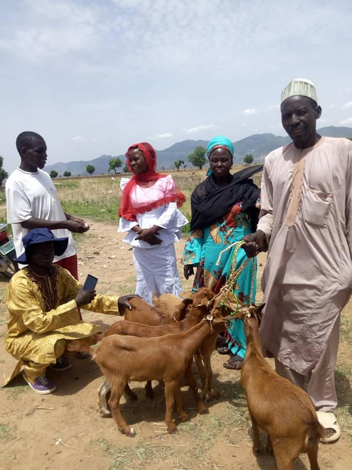 Women were given goats in seventy communities of the project.