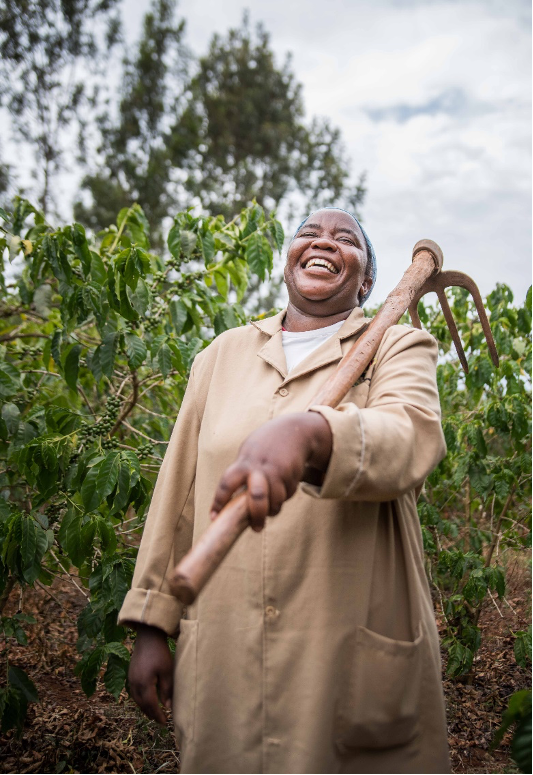 Gladys Wangechi on her coffee farm. ©Roshni Lodhia
